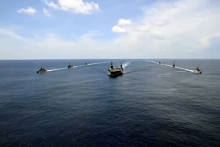 The Indian Navy holds passage exercises with US Navy's Nimitz Aircraft Carrier in the Indian Ocean. The US and India reviewed the Indo-Pacific strategic landscape and progress in cooperation in recent months.