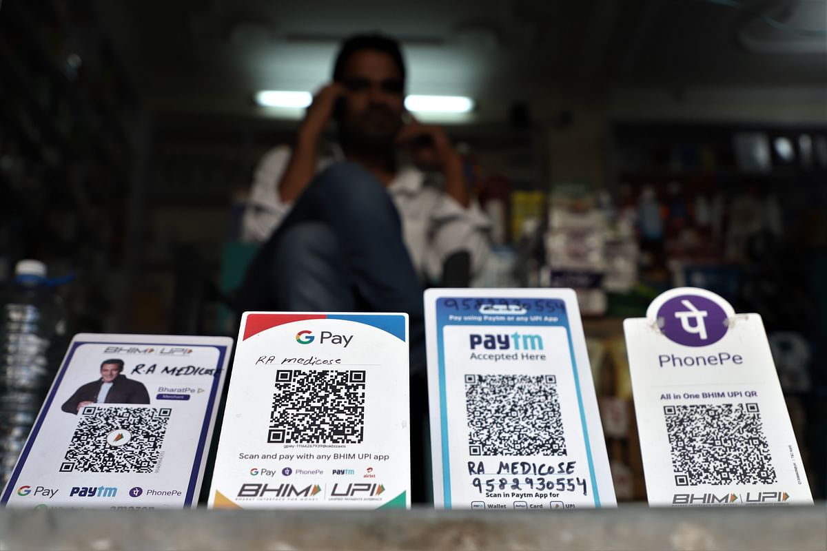 Walking the talk. Paytm, PhonePe, Google Pay (Gpay) and Bhim UPI QR Codes (Standee) are kept outside for cashless payments at a medical store in Gurugram near New Delhi. There are many other new sectors which have emerged as hotbeds for disruptive innovations in India.