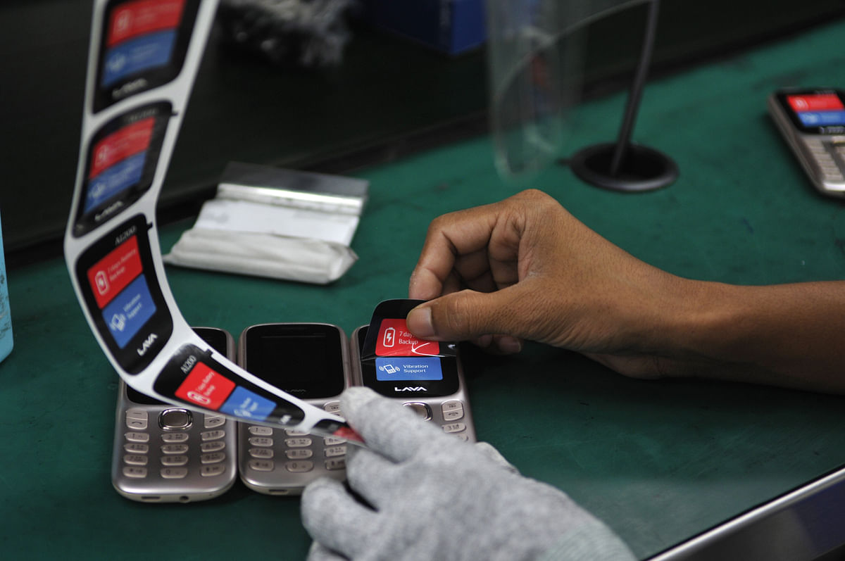 Manufacturing facilities in Noida for smartphone maker Lava. The PLI scheme introduced by the GoI has attracted investments from top global smartphone brands.