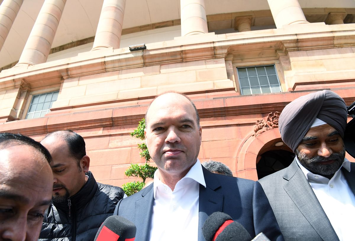 Vodafone CEO Nick Read leaves parliament house after an interface with Indian Finance Minister Nirmala Sitharaman. The Indian income tax department had pulled up Vodafone for withholding taxes, but India's Supreme Court ruled in Vodafone's favour.