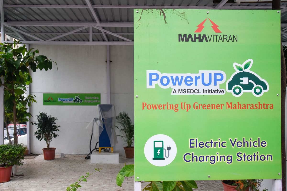 A vehicle charging station at Baner. The Maharashtra State Electricity Distribution Company Ltd had proposed to set up 500 Electric Vehicle EV charging stations across the state by last year.
