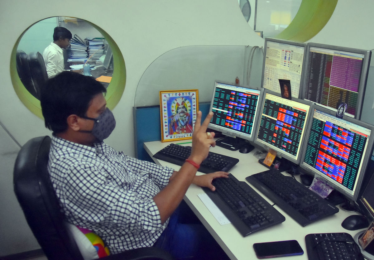 Traders react to a good day at the stock market. The latest inflation projections, though higher than the previous forecasts, is still within the RBI's comfort zone of 2-6 per cent.
