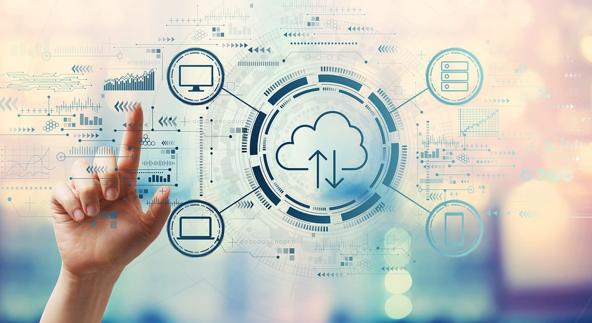 A depiction of cloud computing. Studies have found links between business profit growth and the use of cloud to develop business and launch new solutions and bring new functionality to market.