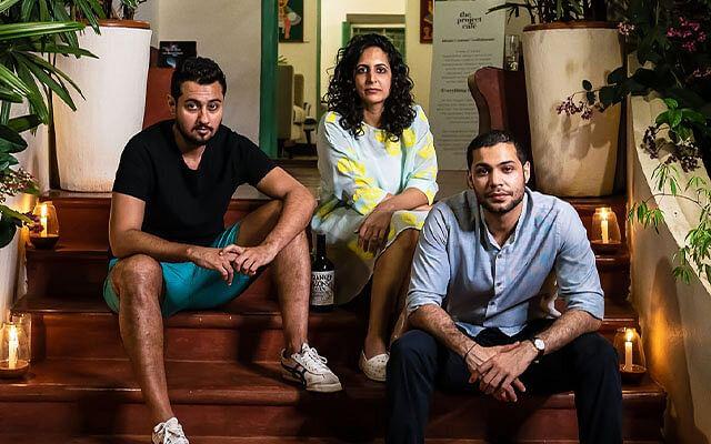 Sakshi Saigal and her Third Eye Distillery co-founders, Rahul Mehra and Vidur Gupta.