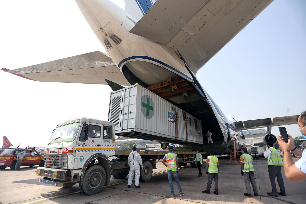 An aircraft arrives with Covid-19 relief supplies from the UK to India. The two countries have embarked on a long-awaited journey aided by a Roadmap 2030 to double trade and interaction across diverse platforms.