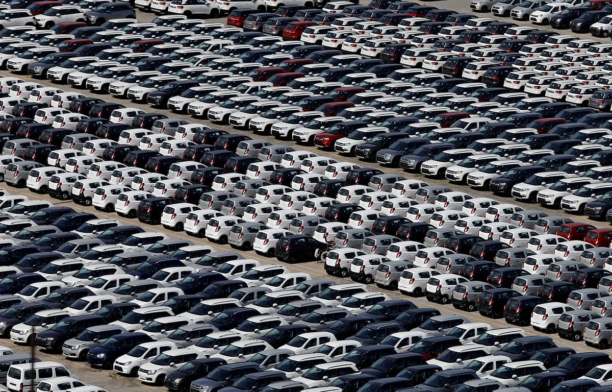 Cars are seen parked at Maruti Suzuki's plant at Manesar, in the northern state of Haryana, India. An upward trend in the automobile sector, which indicates rising consumer confidence bodes well for the wider economy.