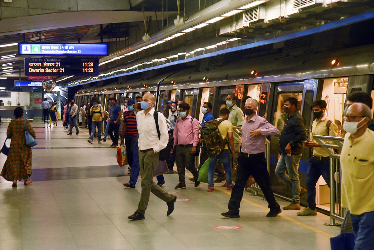 People have been returning to travel in the Delhi Metro. Migrant workers are also thronging back to the cities to earn a living thus giving a glimpse of an economic boost propped up by pent up demand.