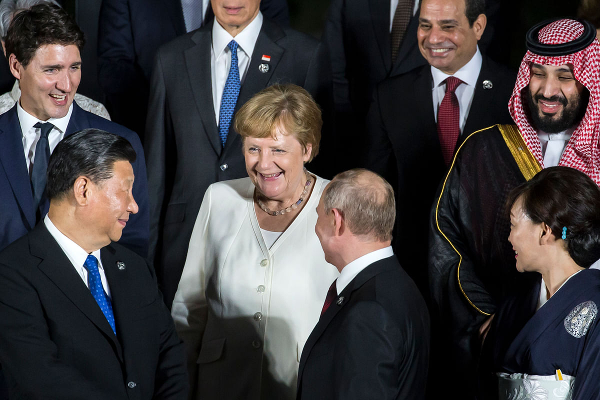 G20 leaders at Osaka, Japan in 2019. The upcoming G20 meeting of nations in Venice should bring up the case for a universal agreement on a minimum global tax rate for the corporate sector.