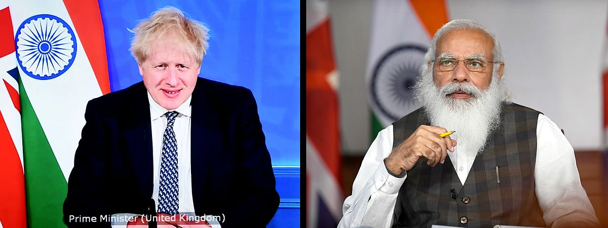 PM Modi and British PM Boris Johnson engage each other virtually before firming up an enhanced trade partnership which would be a blueprint for an eventual FTA.