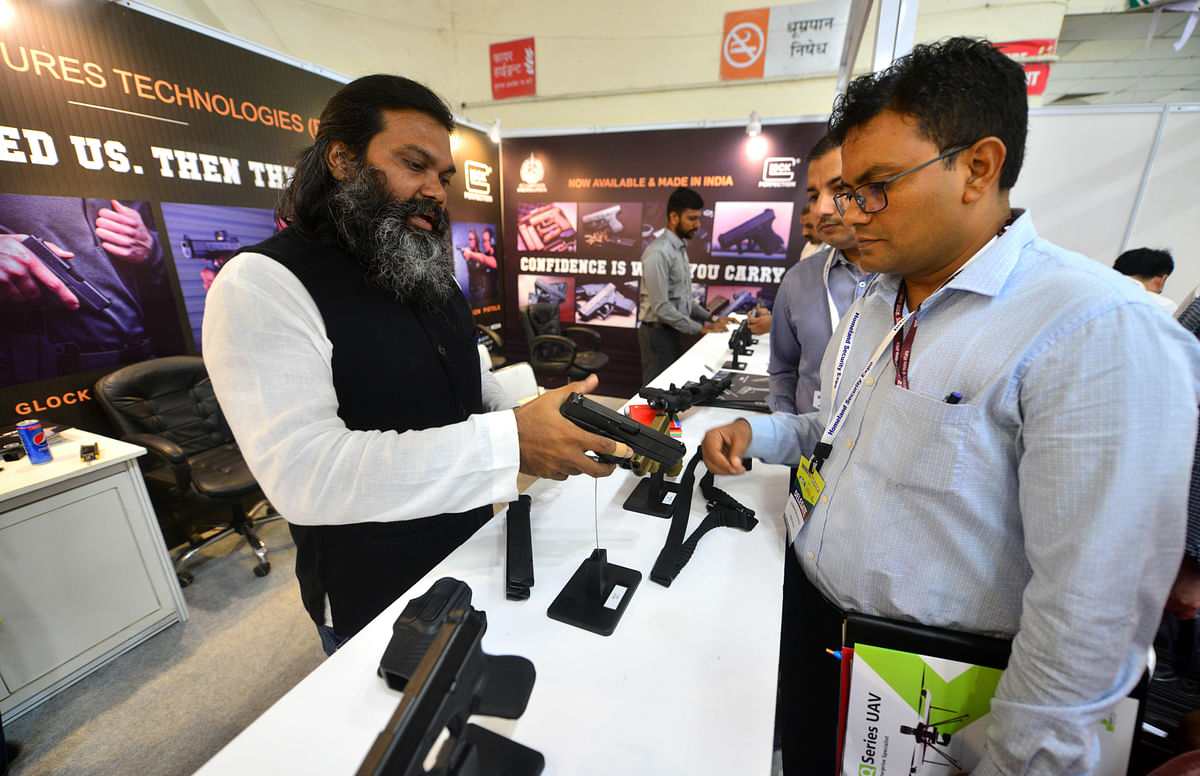 A Glock handgun on display to customers is being made in Chennai. The decision aimed at turning the Ordnance Factories into assets which are profitable will help in improving the quality of the platforms and products and are cost effective.
