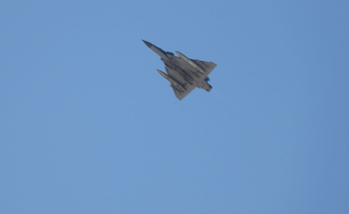 A Tejas fighter aircraft from the IAF conducts manoeuvres. India can become the hub of manufacturing the latest defence platforms, the Defence Ministry has unveiled a list of 108 weapons systems that will, henceforth, have to be made in India.