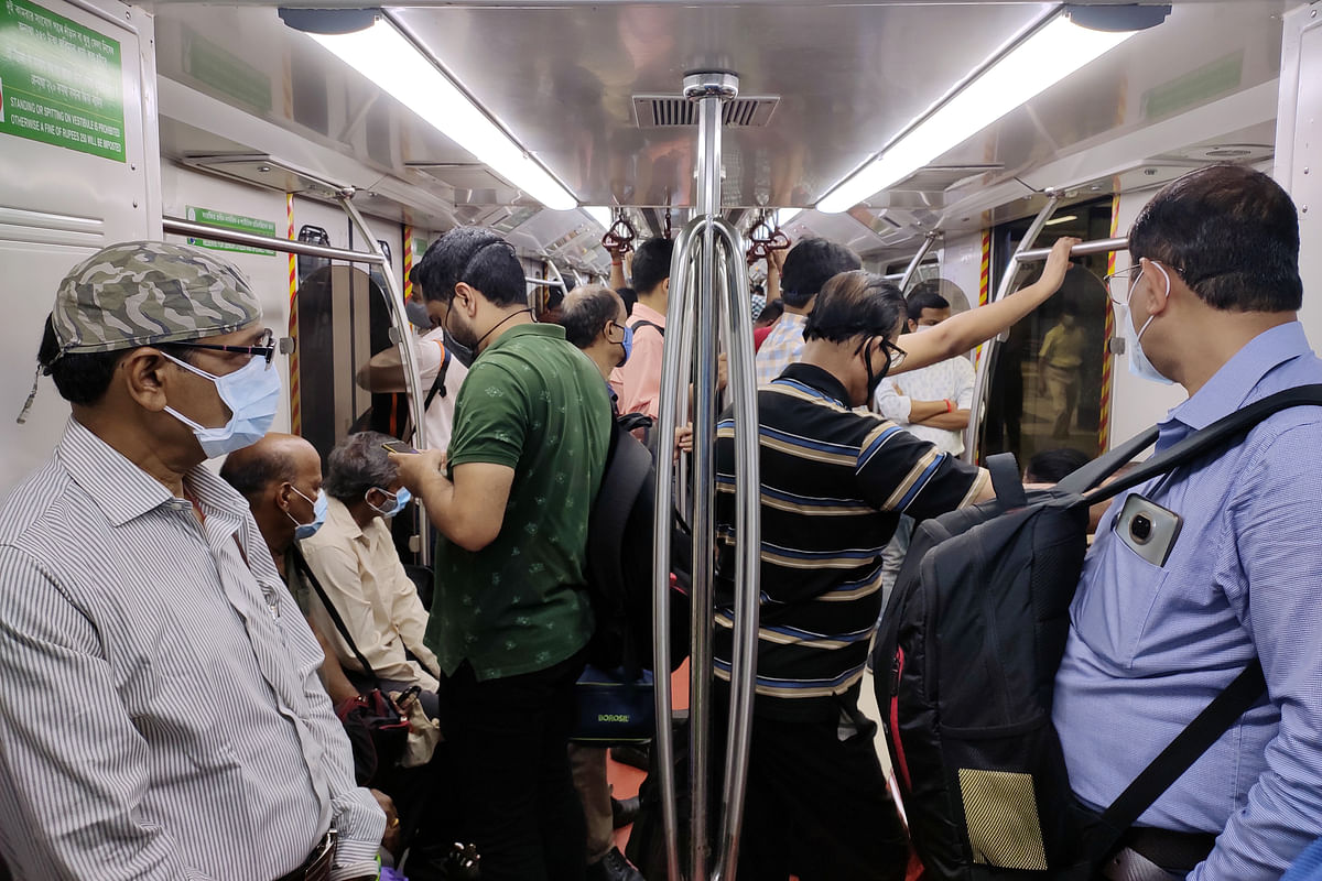 People travelling to work in the Kolkata Metro as lockdown eases in the city. Policy makers and corporate executives will take heart from both the improving creditworthiness as well as rising profitability of the Indian corporate sector, which could set the stage for a sharp recovery in the coming quarters.