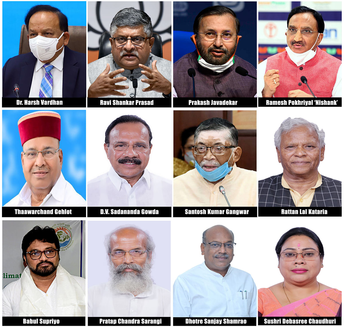 A combo image of the ministers who vacated their portfolios in the government.