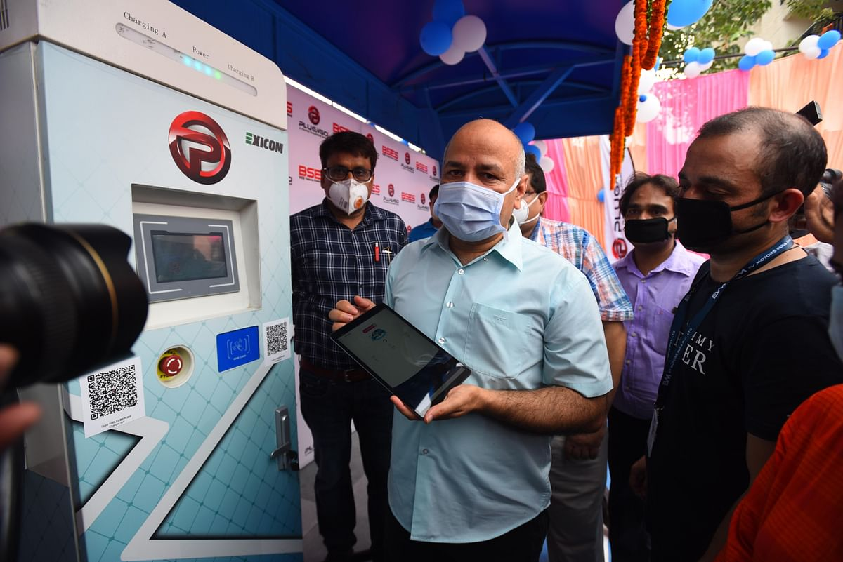 Delhi Deputy Chief Minister Manish Sisodia inaugurates new electric vehicle charging station at Patparganj. Added subsidies from the government for local manufacturing of EVs and related components have attracted new investments into the sector.