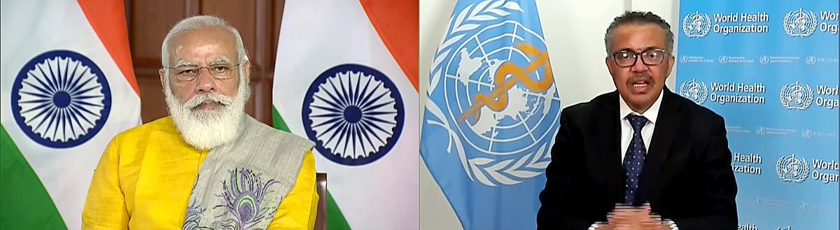 India prime minister Narendra Modi in a virtual meeting with WHO DG Tedros Adhanom Ghebreyesus. Poonawalla stressed that international agencies would need to set globally accepted standards in order to deal with pandemics in future.