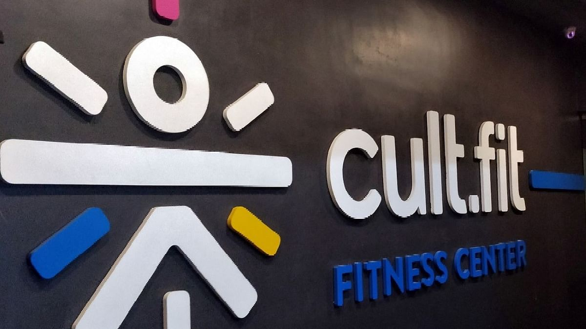 The logo of cult.fit, a wellness unit of Indian gym and wellness startup cure.fit, is seen at one of its fitness centres. India has among the biggest start-up movements in the world. It has 50,000 start-ups, the third biggest in the world.