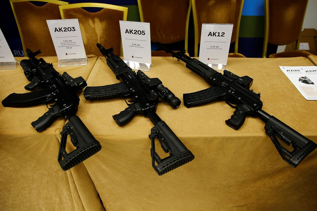 The company that will make the AK203 rifles, Indo-Russia Rifles Private Ltd, is majority owned by the OFB, which owns 50.5 per cent. 42 per cent is held by Kalashnikov and 7.5 per cent by Russia's official arms export agency Rosonboronexport.