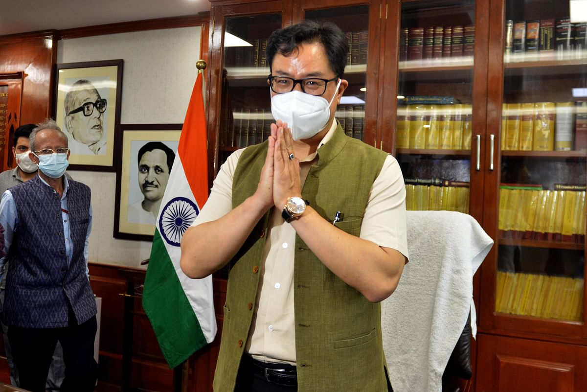 Kiren Rijiju taking charge as the Union Minister for Law and Justice last month. Under the new system introduced recently by the Ministry of Law and Justice for commercial courts, the case management software will include automatic colour-coded alerts.