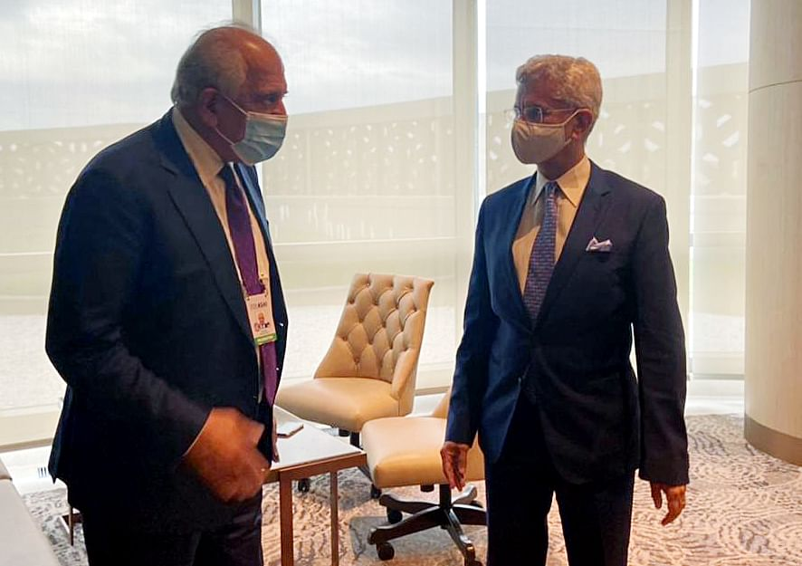 Indian foreign affairs minister Dr. S Jaishankar with United States Spl Representative for Afghanistan Reconciliation Zalmay Khalilzad. The news that the Afghan government is seeking even closer trade relations with India at this sensitive time in its transition is welcome news for everyone.