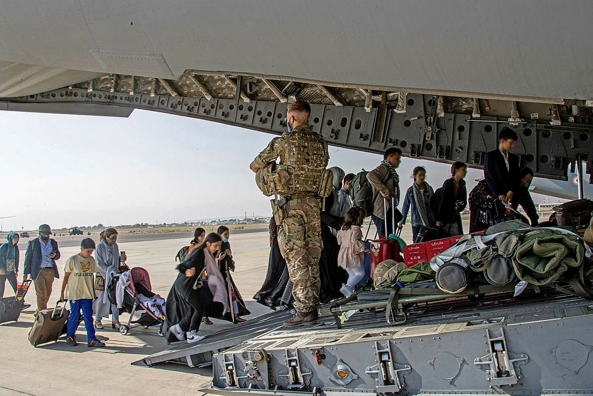British citizens and dual nationals residing in Afghanistan board a military plane for evacuation from Kabul airport. Over the last two decades, the US has sunk more than $1 trillion to try and rebuild the country. All efforts to prop up Afghanistan on multiple platforms have failed.