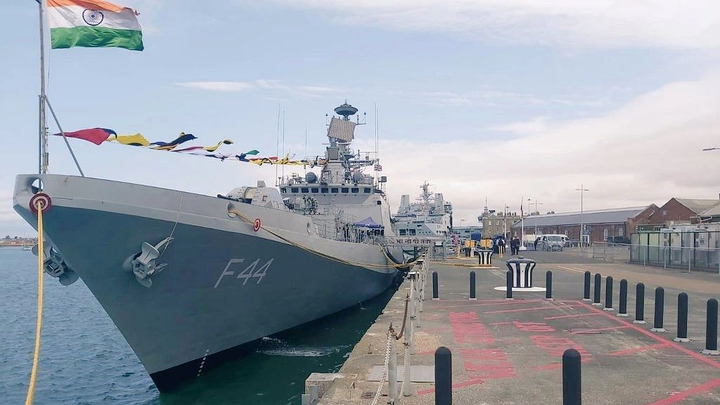 Indian naval ship docks in UK for historic joint exercises