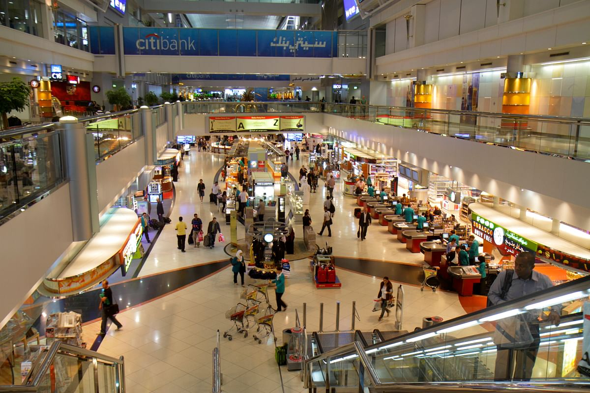 A view of Dubai International Airport concourse and the Sheikh Rashid Terminal shopping. DXB remains the world's busiest airport for international passengers after retaining the title for the seventh consecutive year for annual traffic in 2020.