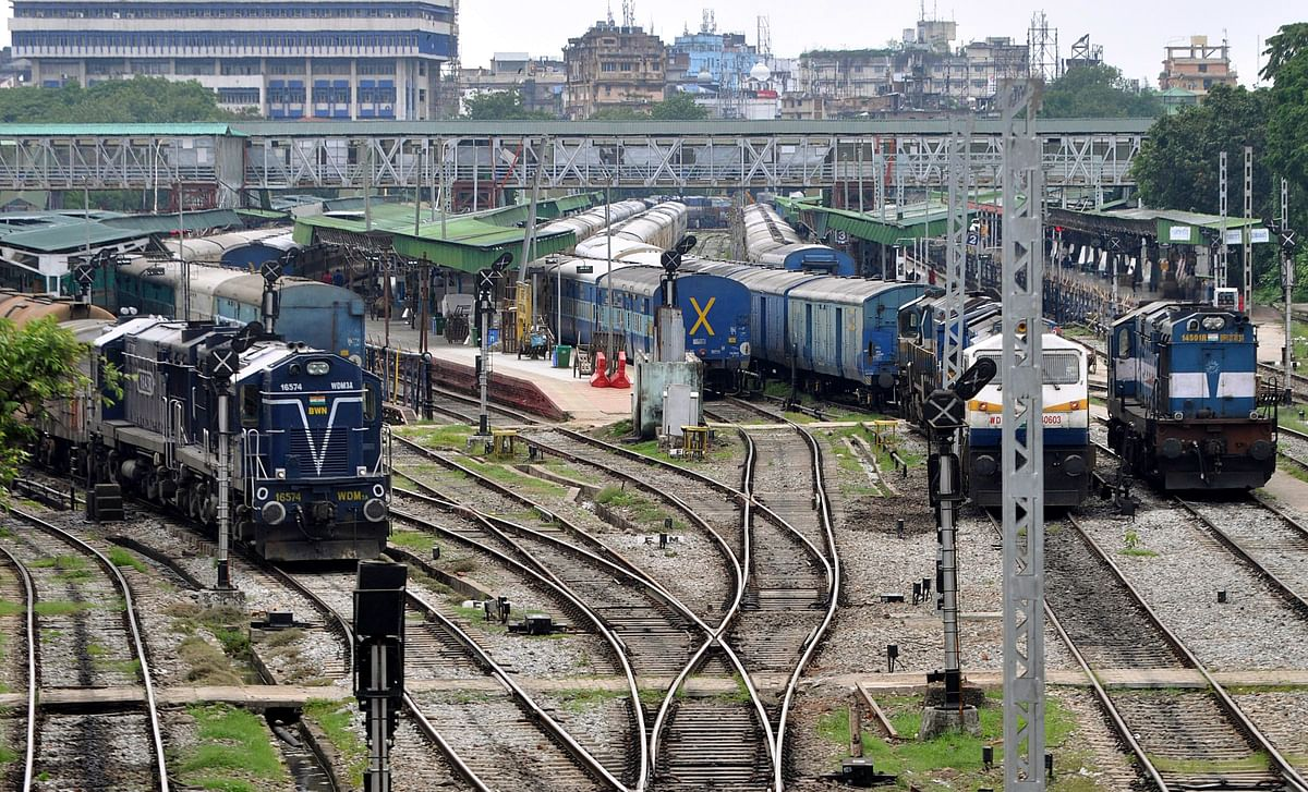 Trains parked at the Guwahati railway station during lockdown. India aims to ramp up its national infrastructure pipeline, with special focus on roads and railways.