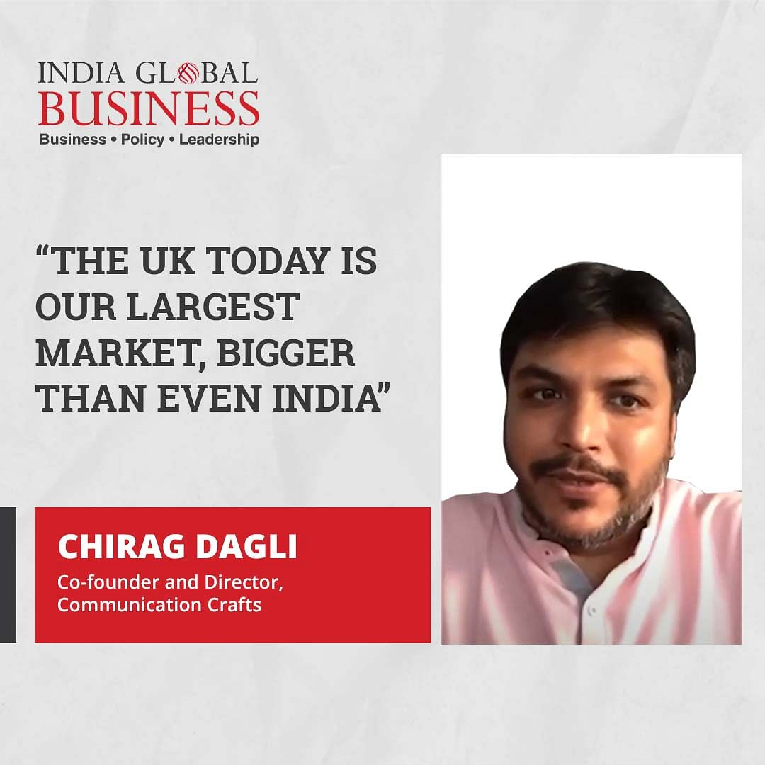 'The UK today is our largest market, bigger than even India'