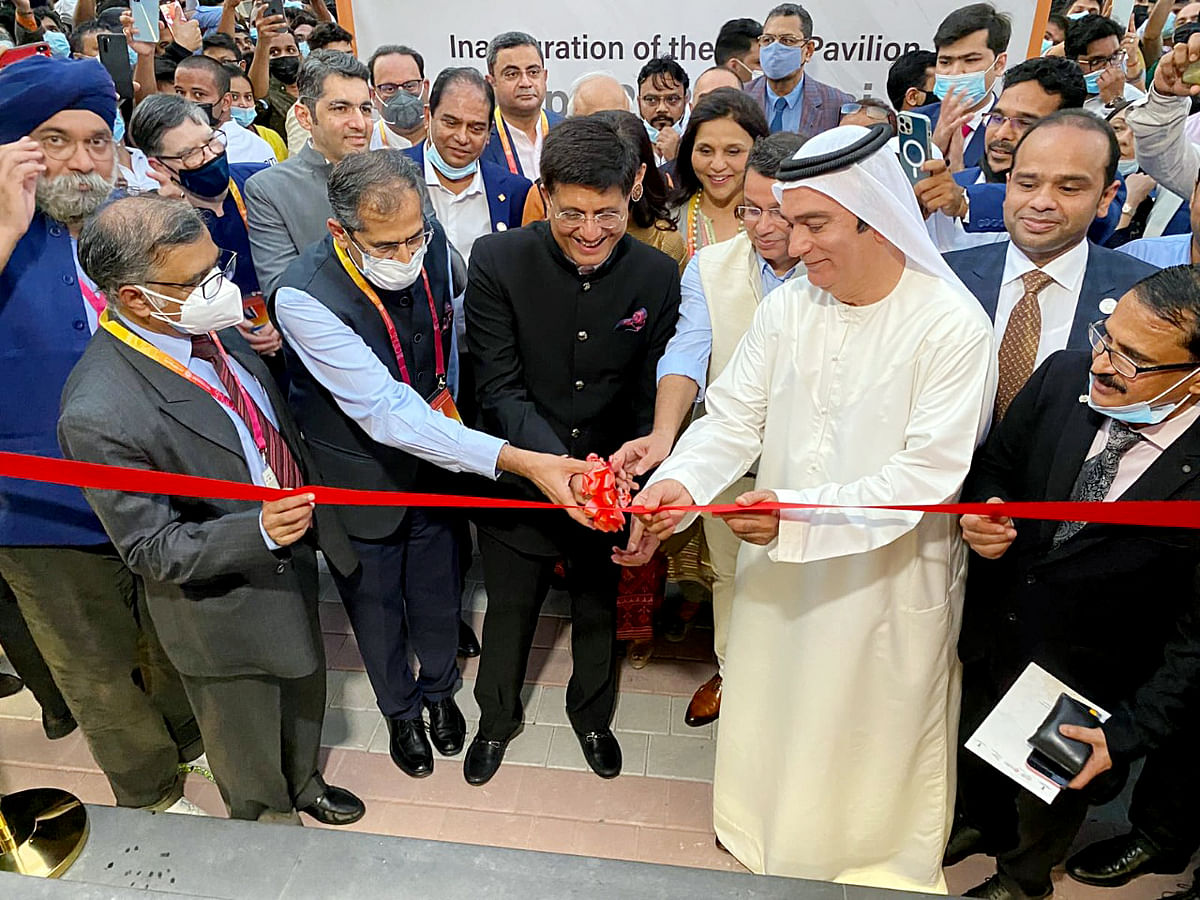 Union Minister of Commerce and Industry Piyush Goyal inaugurates the India Pavilion at the Dubai Expo 2020. The UAE and India will focus on bilateral economic ties that will deepen engagement.