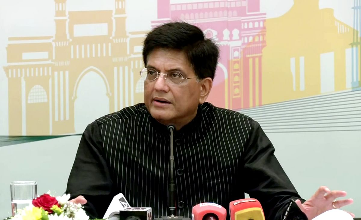 Union Minister of Commerce and Industry Piyush Goyal addresses a press conference, in Dubai. He stressed that UAE companies have now stated that the investment processes in India have become clean and seamless.