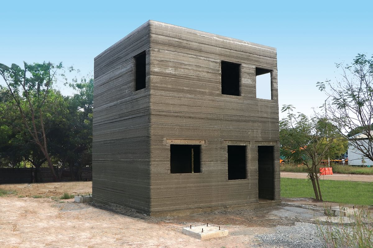 First to 3D print a Ground plus One, building in India