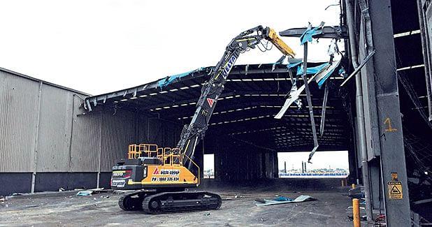Volvo EC480E HR high-reach fuels Australia´s demolition industry