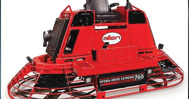 Allen's New HDX760 Hydra-Drive Extreme Riding Trowel