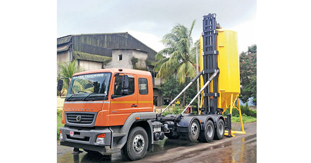 Delivery of Cement-Drymix in Movable Silos!