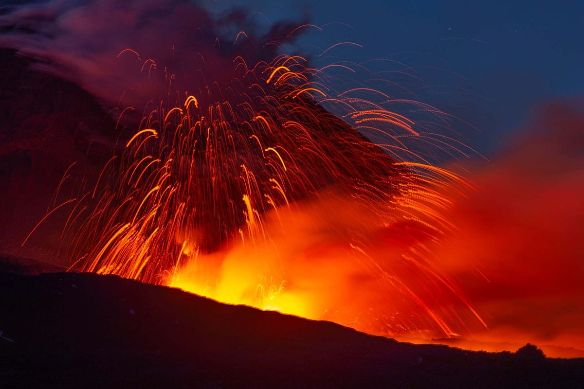Video: Mount Etna erupts for the second time in a month, spews lava and ash into the sky