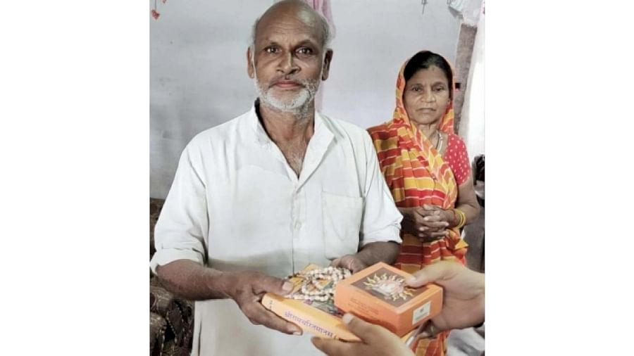 Very first prasad from 'Bhoomi Pujan' received by a dalit family