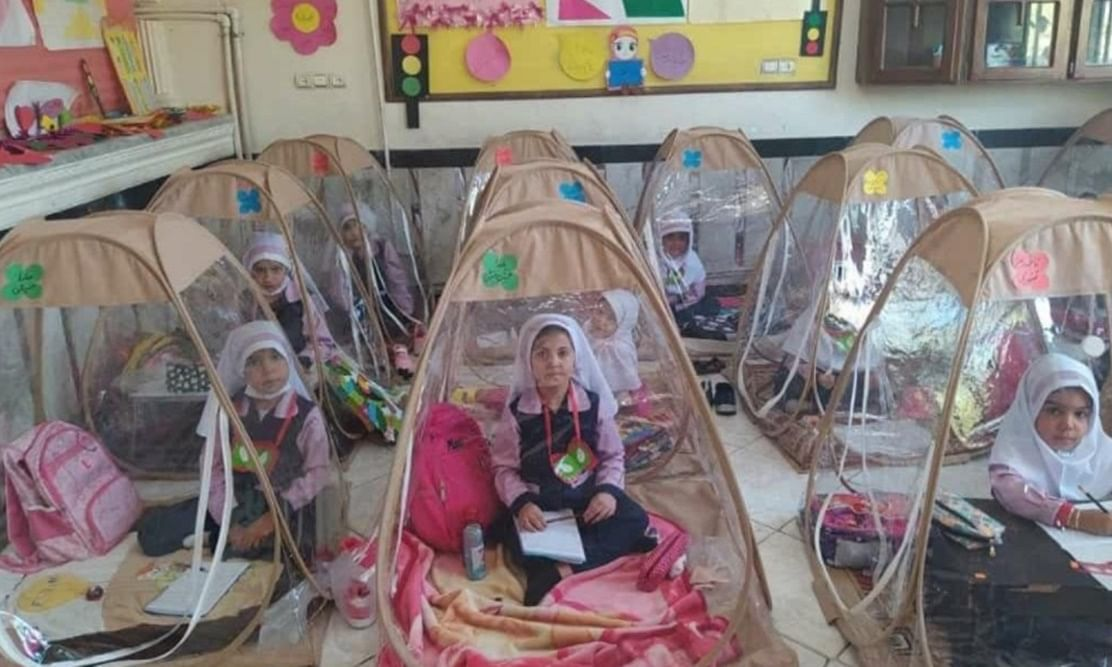 Pic: School in Iran that reopened after seven months