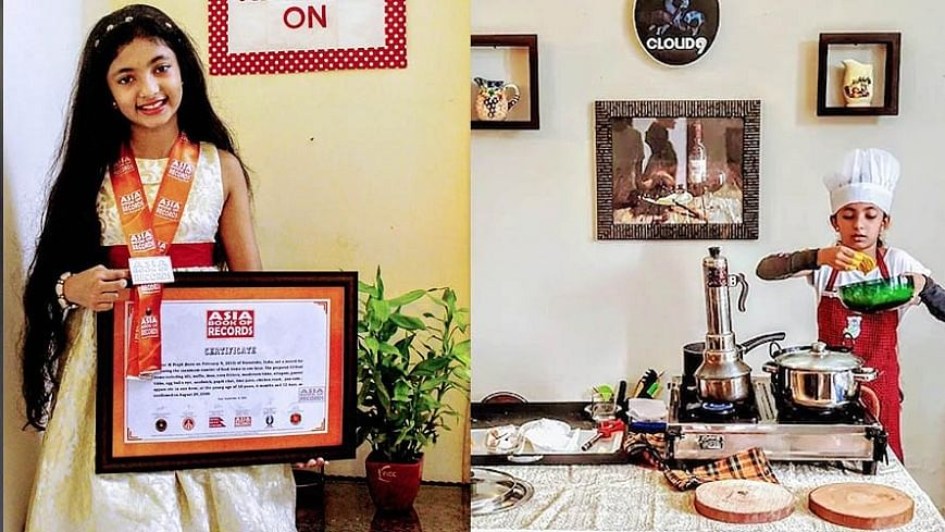 Video : 10-YO girl from Kerala cooked 33 meals in under an hour creating a new record