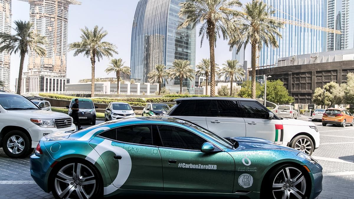 If you have an electric car, you can park for free anywhere in Dubai!