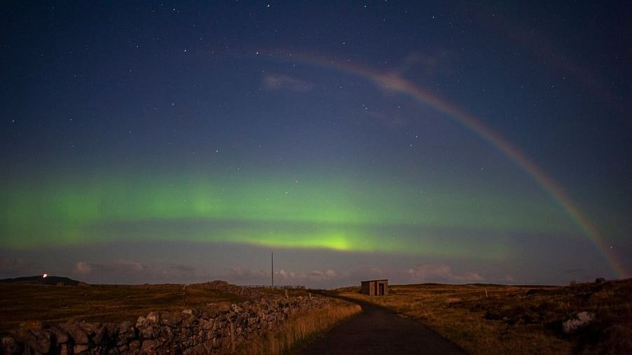 Wow: Double moonbow with northern lights spotted in Scotland