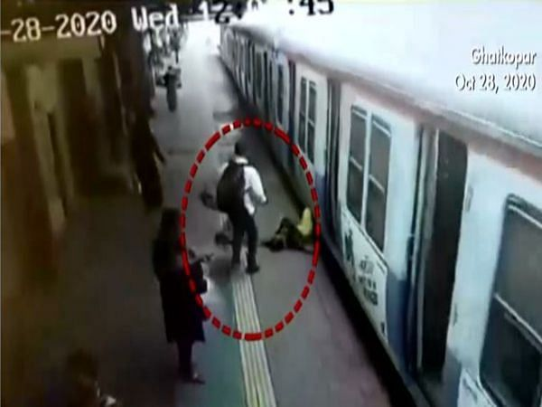 Watch: Real hero! Pointsman saves child from getting crushed under train in Mumbai
