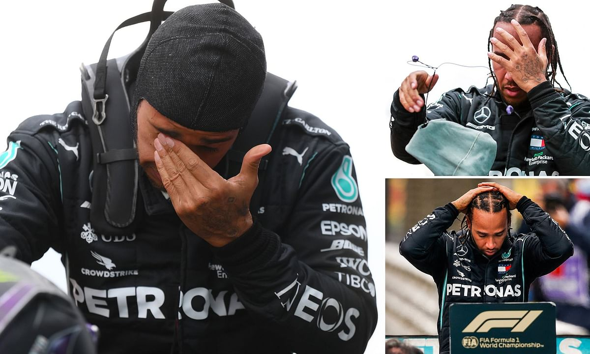 Hamilton 'bursts into tears' after record-equalling 7th F1 title