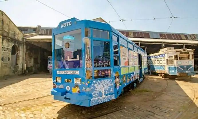 Tramcar library for young readers rolls out in Kolkata