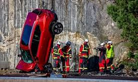 Why did Volvo drop new cars from 30 metres high?