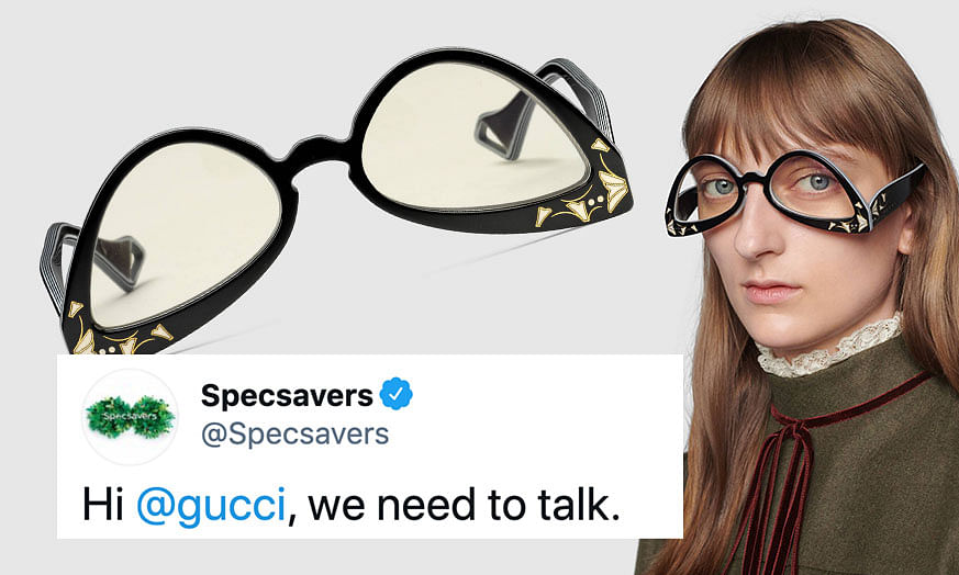 Gucci's 'upside-down' sunglasses confuse people