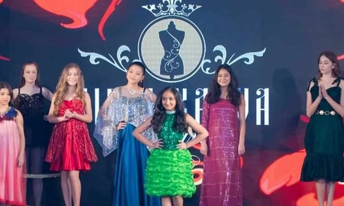 Amazing! 9-year-old Indian launches her collection at Dubai World Fashion Week