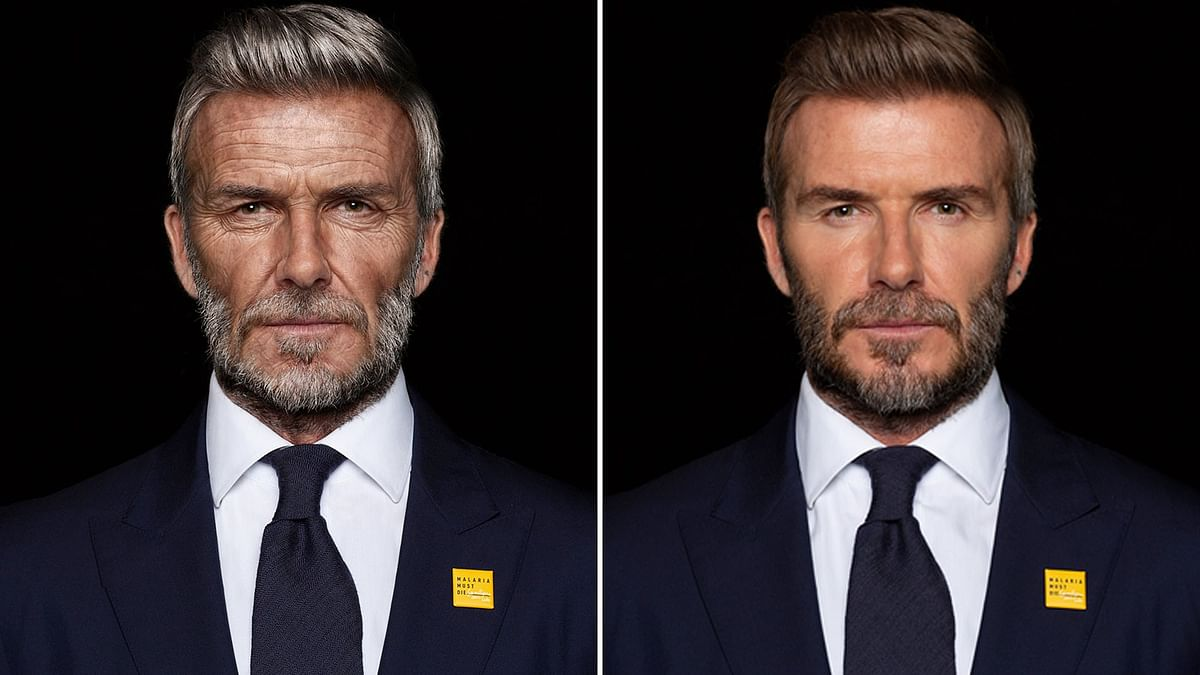 David Beckham digitally aged to look 70-year-old in malaria campaign