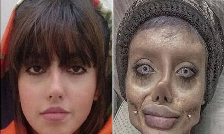 Instagram star 'Zombie Angelina Jolie' freed days after being jailed in Iran