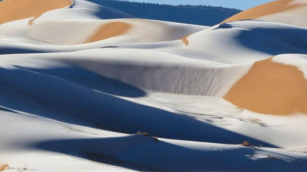 Wow pics: Sahara desert witnesses snowfall