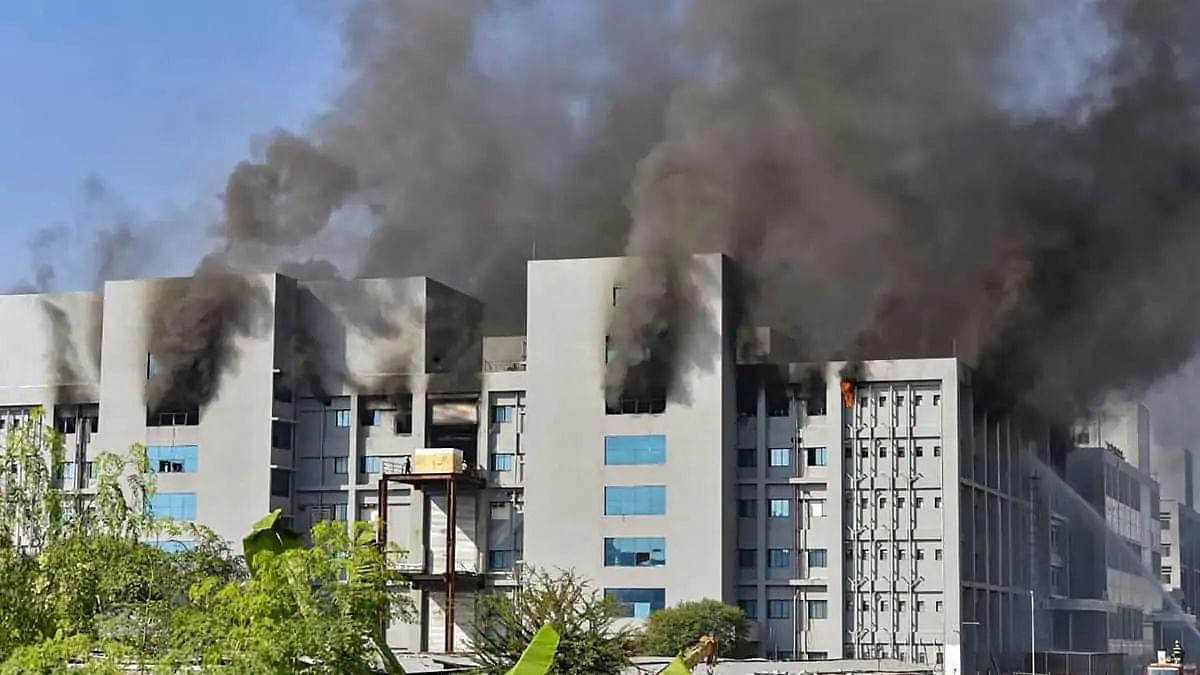 Fire in Serum Institute; Covishield facility not affected